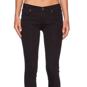 NWT Free People Mid Rise Black Basic Skinny Jean